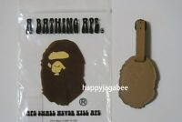 * A BATHING APE Goods TRAVEL COLLECTION APE HEAD LUGGAGE TAG From Japan New