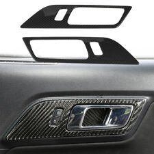 Interior Door Handle Trim Cover For Ford Mustang 2015+ Carbon Fiber Accessories