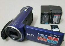 Sony HDR-CX220 HD Camcorder -  Blue *VERY GOOD with 2 Batts+16gb SD Card*