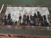 City Lights Skyline Artworks Panel 23x42 Galaxy of Graphics Quilting Treasures