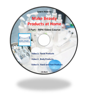 How to Make Beauty Products at Home, 3 Part Video Course on CD-Rom and D/L Link