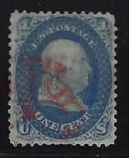 US SCOTT 63 FRANKLIN USED NO GUM NICE CENTERING 1861-2
