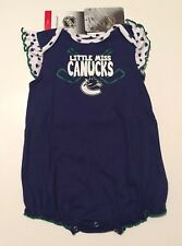 Little Miss Canucks Nhl Vancouver Girls Kids One Piece Outfit Licensed Hockey