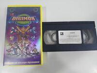 DIGIMON LA PELICULA ANIMACION - VHS CINTA TAPE COLECCIONISTA ESPAÑA
