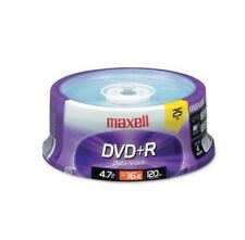 Maxell 639011 DVD Recordable Media - DVD+R - 16x - 4.70 GB - 25 Pack Spindle