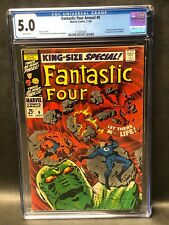Fantastic Four Annual 6 CGC 5.0 1st Annihilus Birth of Franklin Richards