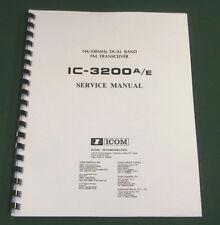 Icom IC-3200A/E Service Manual - Premium Card Stock Covers & 28 LB Paper!