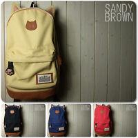 JAPAN Cat Ear Cute Girl Vintage Backpack School Campus Bag Outdoor Rucksack