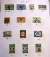 LOT OF 13 OLD CEYLON STAMPS, SG431-444, ALL USED F/U & G/U