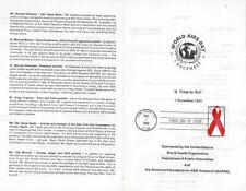#2806 FD Program 29c AIDS Day Stamp- New York, New York w/2 FDC