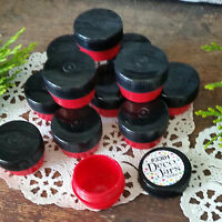 100 Mini RED JARS .25oz Black Cap wax Container balm RX stash wax 1/4oz USA