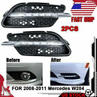 LED DRL Fog Lights Daytime Running Drive Lamps For Mercedes Benz W204 C300 Sport