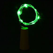 Solar LED Fairy String Lamp Wine Bottle Copper Cork Lights Wire Party 10/20LED