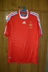 France Team Adidas Football Shirt Away 2008/2009 Red Soccer Jersey Men Size M