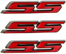 3pcs Tilt SS Truck Emblems Auto Trunk Door Fender Bumper Badge 3D Decal Red