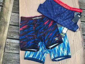 Men's UMBRO Soft Performance Boxer Briefs Comfort Control SZ S,M, L, XL MSRP $29