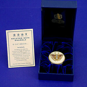 Halcyon Days 'A Cut Above.. The Butterfly' Faberge Trinket/Pill Box - BOX & CERT