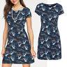 genial Marken Kleid Gr.40/42 L/XL Sommerkleid Jerseykleid Shirtkleid blau