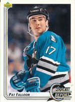 Pat Falloon 1992-93 Upper Deck #355 San Jose Sharks hockey Card