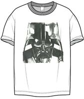 Starwars Darth Vader adult mens t shirt white short sleeve official Disney tee