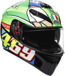 AGV K3 SV Rossi Mugello Unisex Adult Motorcycle Riding Street Racing Helmet