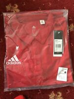Adidas Polo Shirt r.r.p £25 new with tags  Core 15 Casual Top Red Large mams b45
