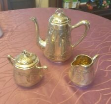 WMF Art Nouveau the Core Of, Coffee Pot, Milk, Sugar,