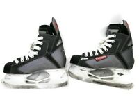 Easton Synergy SYS2 Boys Ice Hockey Skates Black Ice Skates Youth Size 2.0