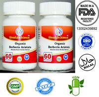 4 x 60 Capsule Organic Berberis Aristata 10:1 daruhaldi  Berberine 240 Cap