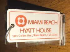 Vintage Miami Beach Hyatt House Hotel Room Key And Fob Miami Beach, Florida Room