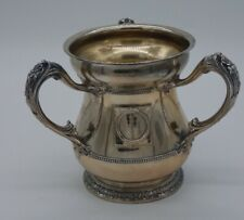 GORHAM SPECIAL ORDER STERLING SILVER THREE HANDLED LOVING CUP / YALE TROPHY