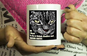 Cat Lover Gift Mugs with Quotes I Just Want To Drink Coffee and Rescue Cats