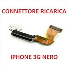 FLAT FLEX CONNETTORE RICARICA DOCK PER APPLE IPHONE 3G COLORE NERO