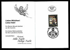 Kinder-Faltkarte 27.11.1998 Stille Nacht Stempel Oberndorf  12/11/15