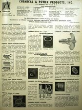 CHEMPRO Chemical & Power Products Inc. Catalog ASBESTOS Packing Gaskets 1962