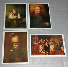 Rembrandt Lithograph Set 4 Self Portrait Girl Broom Man Gold Helmet Night Watch