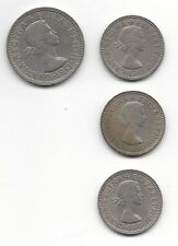 Lot of four Gratia Regina Elizabeth II Dei Shilling, 1959, 1960, 1962, 1966