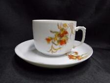 """Schwalb Brothers (BSM), Coral Flowers on White: Cup & Saucer Set (s), 2 1/2"""""""