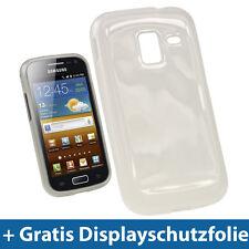Transparent Gel Tasche für Samsung Galaxy Ace 2 I8160 Android Glänzend TPU Klar