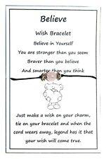 2 x Wish String Bracelet or Anklet Believe in Yourself Rose Quartz Bead W007