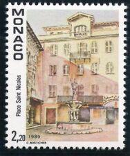 TIMBRE DE MONACO N° 1670 ** VUE DU VIEUX MONACO VILLE / LA PLACE SAINT NICOLAS