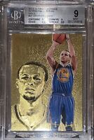 2013 Stephen Curry PANINI INTRIGUE GOLD REFRACTOR 27 /10 BGS 9 9.5 sub PSA prizm