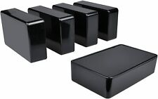 5 Pack Electronic Prototype Abs Plastic Junction Project Box Enclosure Black