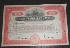 Bush Terminal 20 share stock certificate