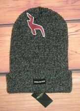 MENS HOLLISTER CHARCOAL GRAY BEANIE HAT ONE SIZE