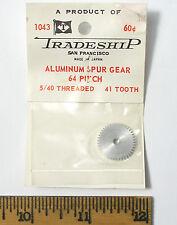 1 TRADESHIP Japan 1/24 Slot Car ALUMINUM SPUR GEAR 64 Pitch 5/40 Thread 41 Tooth