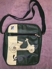Piaggio Vespa Italian Leather Laptop / Handbag Single Strap Logo Satchel