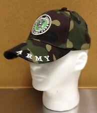 US ARMY Woodland Camo Ball Cap Hat Infantry Armor Cavalry Airborne Ballcap Vet