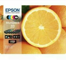 Brand New Sealed EPSON No. 33 Oranges 5-Colour Ink Cartridges - Multipack