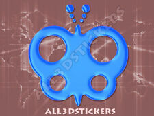 3D Sticker Decal Resin Domed Butterfly Adhesive Decal  Light Blue